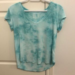"American Eagle Blue ""Soft & Sexy"" V-neck T-shirt"